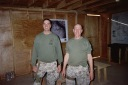 With First Sergeant Scott Miller in a makeshift company headquarters in Haditha, Iraq, Fall/Winter 2006. No better friend, no better counsel than 1stSgt Miller. Semper Fidelis Scott.