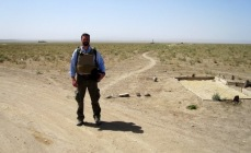 On the border of Afghanistan and Pakistan in the summer of 2009. Honestly, I might even have been in Pakistan.