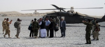 When the ambassador shows up in your city you meet him at the landing zone with your corrupt governor, your non Pashto speaking army commander, and your KHAD (communist) trained intelligence chief.