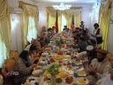 Dinner in Qalat with the Ambassador. Summer 2009.