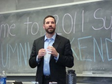 Speaking as an alum at Tufts University, April 2011.