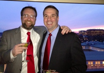 With my good friend Pat, a former Army Ranger. This was the night before I made my first attempt at sobriety. The bar at the top of the W Hotel in Washington, DC overlooking the Treasury Building and the White House, January 31, 2012. The next day I would appear on Hardball with Chris Matthews on MSNBC afraid I would vomit on the set and desperate for an end to it all. Knowing hundreds of thousands of people were watching I decided I couldn't take my own life and going on as I was was just too painful. I'm still alive.