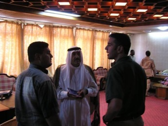 Speaking with Ammar and Damar in Tikrit shortly before leaving Tirkit to head home to the US after a year in Iraq. Upon returning home I would work as a consultant for the State Department on Iraq policy. Within a few months of being at the State Department, I had volunteered for mobilization with the Marine Corps.