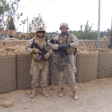 With Andy, one of my platoon commanders. Haditha, Iraq, December 2006.