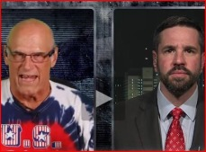 With Jesse Ventura on his television show in early 2015. I have appeared on a couple of occasions with Governor Ventura and each time I get many, many more views and comments than I do from traditional cable news media.