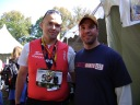 With Bradley Walker at the Marine Corps Marathon in 2008. Not pictured are Brad's two artificial legs. Brad lost his legs when the vehicle he was in hit an IED in December 2006. My vehicle had driven over that IED just seconds before Brad's did.