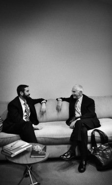 With Daniel Ellsberg in LA. November 2009.