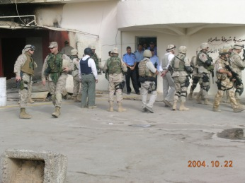 What it looks like when some foreign ambassadors and generals visit your city. October 2004
