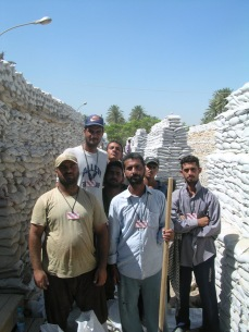 Day laborers at CPA in Baghdad, May 2004.