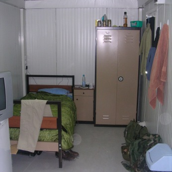 My half of my trailer in Baghdad. 2004/5.