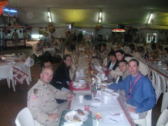 Thanksgiving aboard FOB Danger, November 2004.