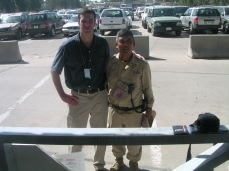 My friend Durga. Baghdad 2004. We became friends after I let him use my computer to email his family back in Nepal. Kindness has its rewards. Durga was the Nepalese guard company quarter master. I never suffered without whenever I was in Baghdad after that.