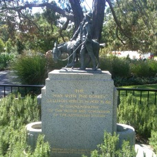 Commemorating the compassion of a man and his donkey amidst the slaughter, suffering, insanity, and the profound and mean stupidity of the Gallipoli campaign in 2015. Melbourne, Australia.