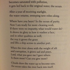 We often need to be refreshed. Rumi. 13th century.