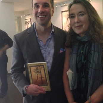 With my friend Leslie Cockburn at her book launch in Fall 2013. Leslie's novel, Baghdad Solitaire, is a vivid depiction of life in Iraq under occupation. So vivid I had to stop reading it for awhile.