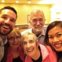 With the incomparable Ray McGovern and two very bad ass ladies from Code Pink, Asheville, NC, July 2014.