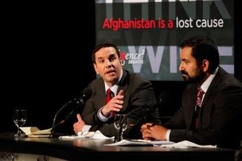 Debating Peter Bergen and Max Boot on NPR's Intelligence Squared alongside Nir Rosen in NYC in November 2010.