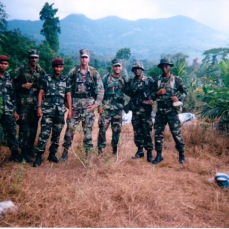 Malaysia in 2001 with Frank, Bez and some Malaysian paratrooper friends. We got to go places that rich people pay thousands and thousands of dollars to visit.