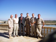 Reconstruction and governance team with PSD team leaders. Early 2005. Tikrit, Iraq.