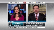 With Contessa Brewer on MSNBC in December 2010.