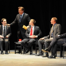 NYU Public Theater December 2010 with Alec Baldwin and fellow veterans.