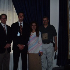 Members of the Ministry of Youth and Sport in Baghdad May 2004. Nada was one of our Iraqi employees. As I understand she is safe in the United States. Worrying what became of her haunted me for years. The gentleman to my right, Dave, was an executive with Nike who volunteered his time from home and family to try and do something good in Iraq. The gentleman to Nada's left, Lynn, was an Army chaplain. A kinder, wiser and more gentle man I'm not sure I ever knew. RIP Lynn.