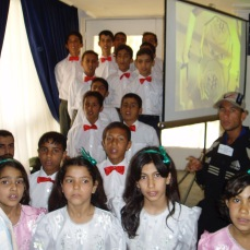 Boys and girls perform for Paul Bremer, CPA staff and Iraqi guests at the transitioning of the Ministry of Youth and Sport to Iraqi control. This was over eleven years ago. What happened to these children? What have they become if they have survived?