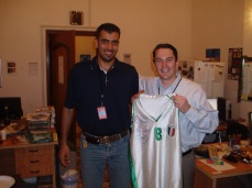 Dave and Majeed. Baghdad, 2004. Majeed and his family were fortunate to have been accepted into the asylum program in the US. A civil engineer, he now drives a truck.