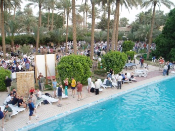 While the rest of Iraq burned we had a pretty excellent pool party at CPA headquarters in Baghdad. Memorial Day, 2004.