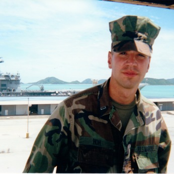 Ashore in Thailand in 2001.That's Thailand's aircraft carrier behind me. I'd bet dollars to donuts she still hasn't put out for operations yet. But, hey, Thai admirals get to say they have an aircraft carrier...