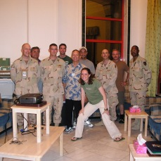 As CPA transitioned to the US Embassy in the spring of 2004 I went north from Baghdad to Tikrit, Saddam Hussein's home city. Incoming (civilian) and outgoing (mostly military) members of the reconstruction and governance team in Salah ad Din province.