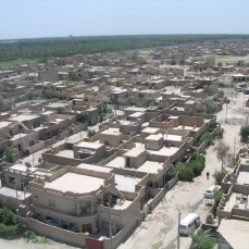A village from the air north of Baghdad in June, 2004. We flew low and fast, which to the villagers was a loud and near constant reminder of our presence.